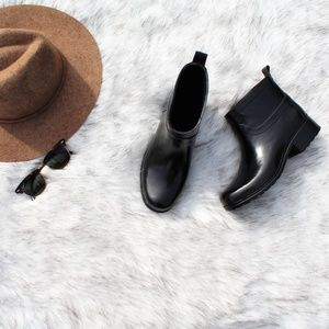Lucky Brand Rebeka Rubber Faux Fur Lined Rain Boot
